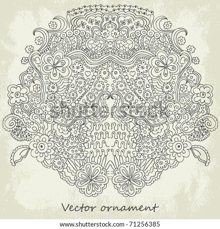 Ornamental vector background - stock vector