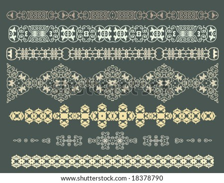 ornamental vector borders