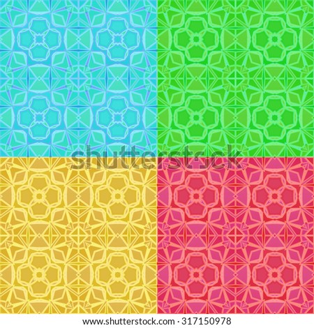 Ornamental vector pattern for background - stock vector