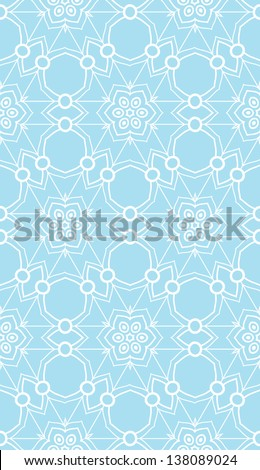 Ornamental vector seamless pattern - stock vector
