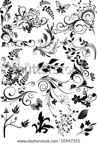 ornaments, design elements - vector - stock vector