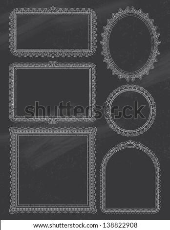 Ornate ChalkBoard Frames Two - stock vector