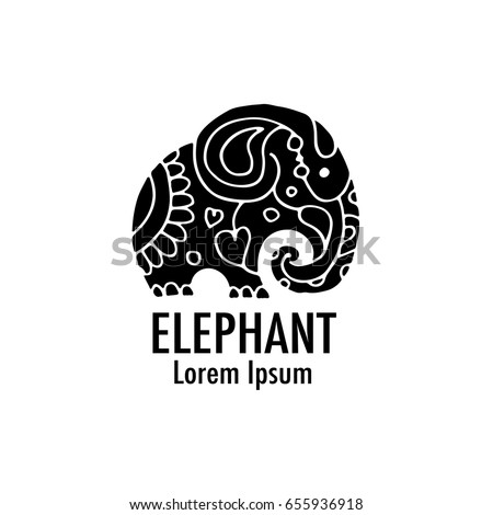 Ornate elephant design