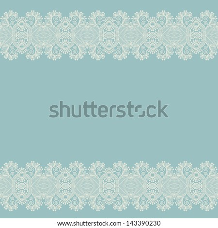 ornate floral background with ornament stripe - stock vector