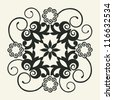 ornate floral decoration, vector design element - stock photo