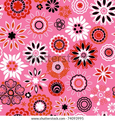 ornate flowers seamless background,endless pattern