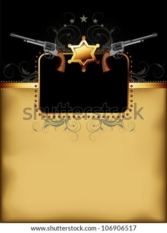 ornate frame with guns
