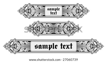 Ornate frames vector - stock vector