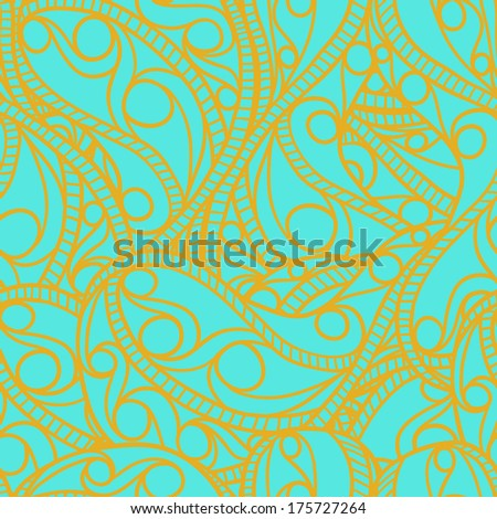 Ornate pattern. Seamless texture. Only two global colors. Easy color changes. Vector illustration/ EPS 8 - stock vector
