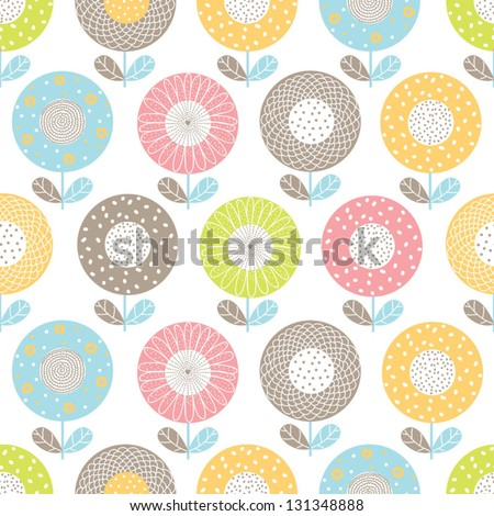 Ornate seamless pattern with the leaves. Seamless pattern can be used for wallpaper, pattern fills, web page background, surface textures. - stock vector