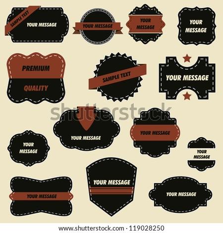 Ornate Stickers - stock vector