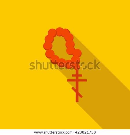 Orthodox cross icon - stock vector