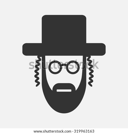 Orthodox Jew Icon Stock Vector Royalty Free 319963163 Shutterstock