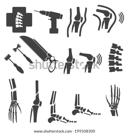 Orthopedic and spine symbol - vector illustration - stock vector