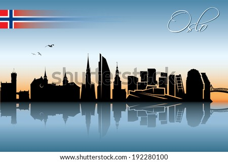 Oslo skyline - vector illustration