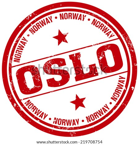 oslo stamp - stock vector