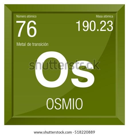 Osmio Symbol Osmium Spanish Language Element Stock Vector 518220889