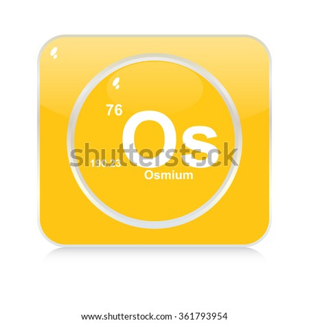 osmium chemical element button - stock vector