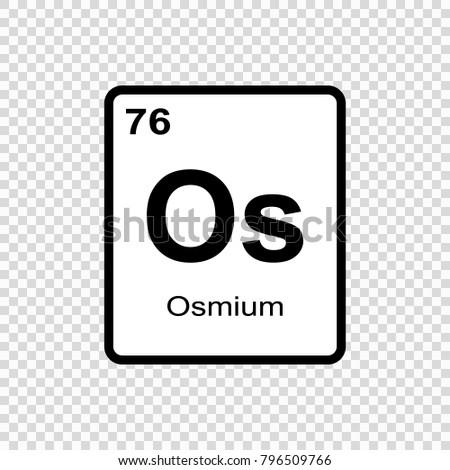 Osmium Chemical Element Sign Atomic Number Stock Vector 796509766