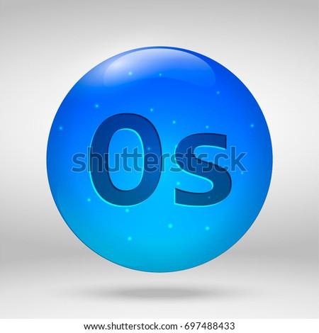 Osmium element periodic table vector 3d stock vector 697488433 osmium element of the periodic table vector 3d glossy drop pill capsule icon urtaz Images