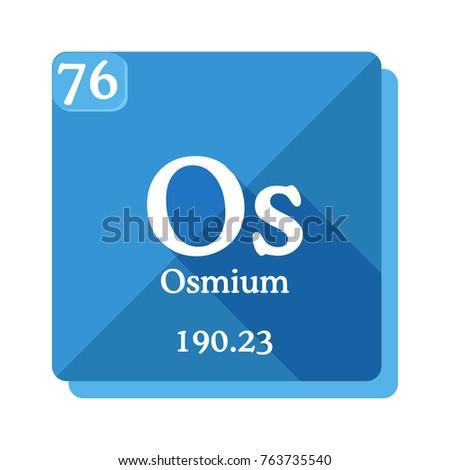 Osmium os element periodic table vector stock vector 763735540 osmium os element of the periodic table vector illustration in flat style urtaz Images