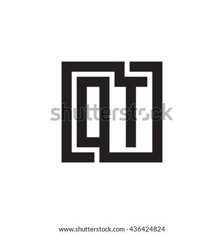 OT initial letters looping linked square monogram logo