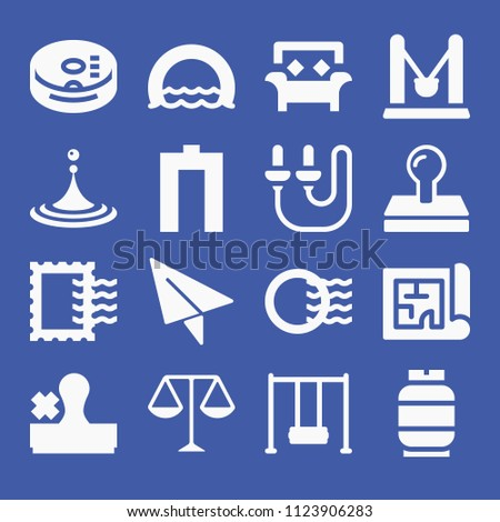 Other related set 16 icons such stock vector 1123906283 shutterstock other related set of 16 icons such as stamp post stamp paper plane malvernweather Choice Image