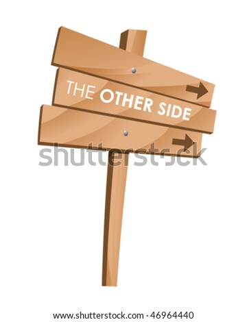 Other side sign - stock vector