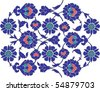 Ottoman ceramic art - stock vector