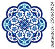Ottoman Islamic ceramic floral vector tile - stock vector
