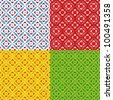 Ottoman style pattern - stock vector