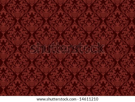 Ottoman style wallpaper pattern and shape