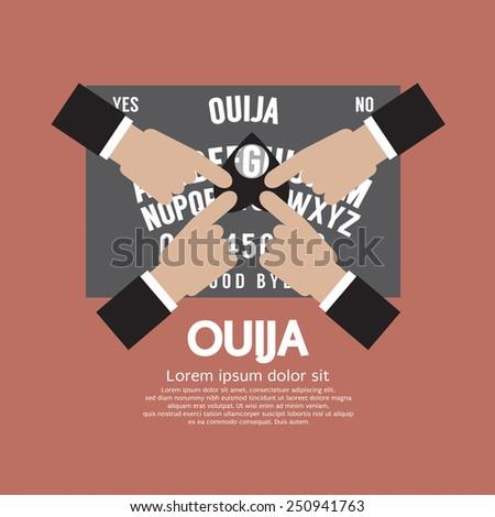 Ouija Board Playing Vector Illustration Stock Vector 250941763