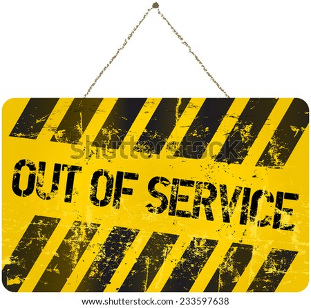 out of service sign, vector illustration