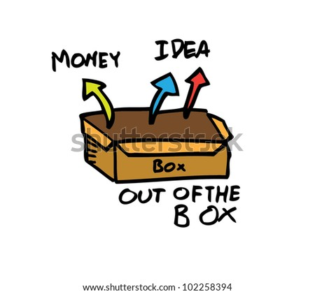 out of the box color - stock vector