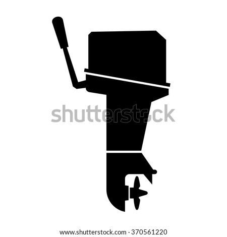 Outboard boat motor - stock vector