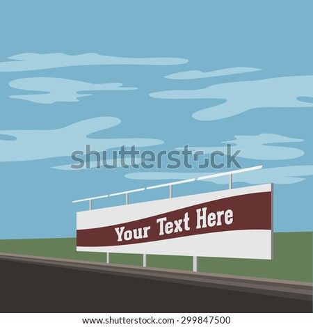 Outdoor advertising Stand Banner Shield Display on the Street. Vector Illustration - stock vector