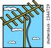 outdoor antenna - stock vector