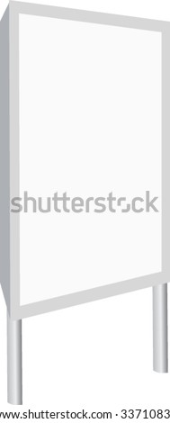 outdoor billboards - stock vector
