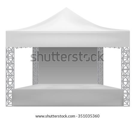 Outdoor concert stage - stock vector