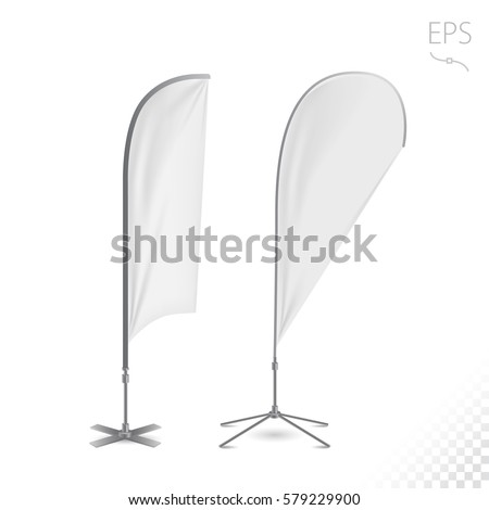 Outdoor Feather Flag Advertising Banner Shield Stock Vector ...