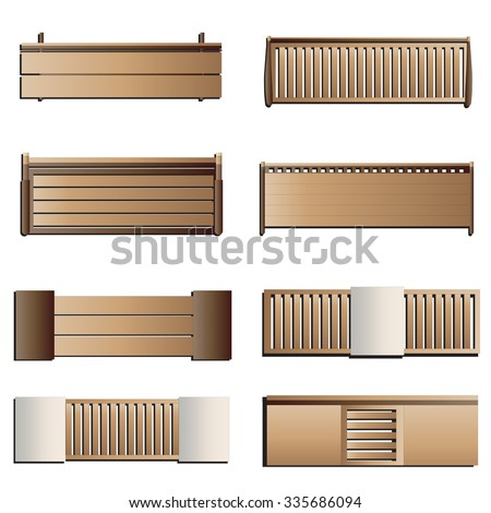 Furniture Top View Stock Royalty Free