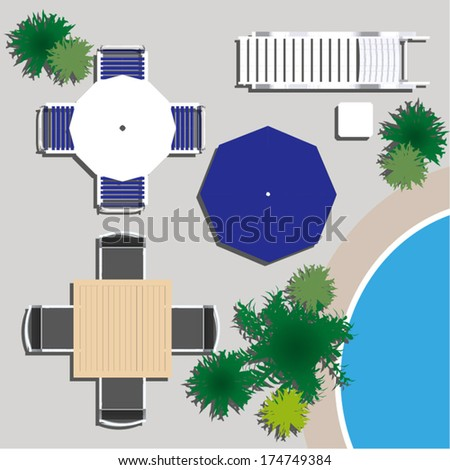 Garden Furniture Top View Psd Fine Garden Furniture Top View Of On  Inspiration