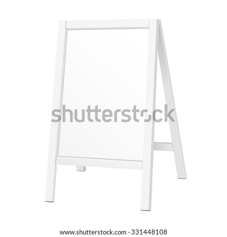 Outdoor Indoor Stander Advertising Stand Banner Shield Display, Advertising. Illustration Isolated On White Background. Vector EPS10 - stock vector