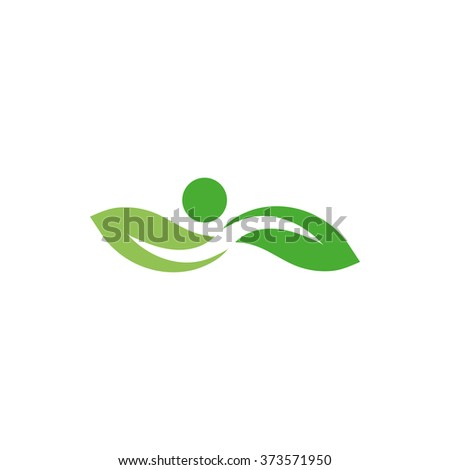 Outdoor pool swimming in clean water. Pure water. Sailing logo. Sports leaves symbol.