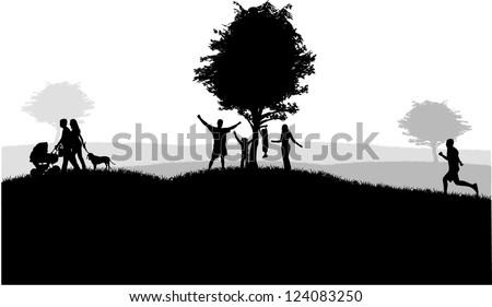 Outdoor recreation.Vector illustration - stock vector