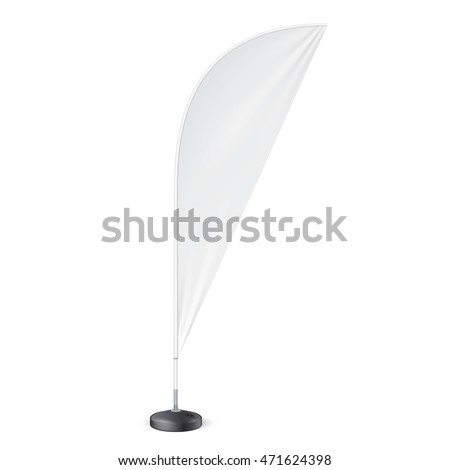 sharkfin banner template - outdoor feather flag ground fillable water stock vector
