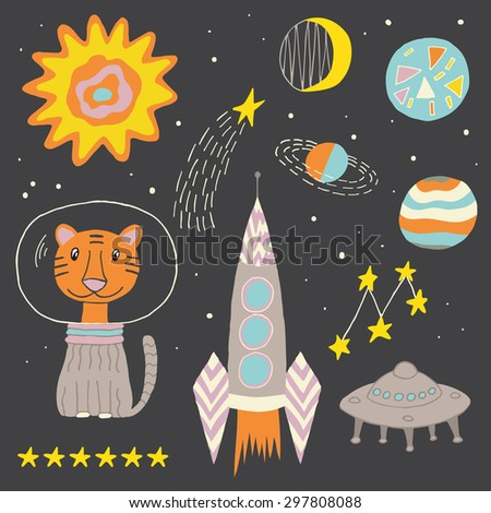 Science fiction travel poster stock photos royalty free for Outer space poster design