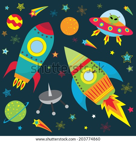 Hand drawn space background stock vector 448096150 for Outer space design