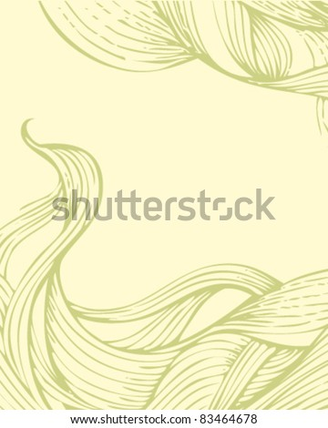 Outline abstract background - stock vector